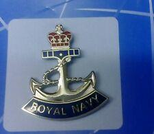 LAPEL PIN BADGE - ROYAL NAVY - Crown & Anchor