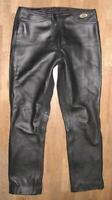 """Slightly Hip """" Germot """" Damen- Leather Jeans / Biker Trousers IN Black Approx."""