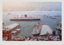 Jack Lorimer Gray Kunstdruck Poster Bild Lichtdruck Hafen im Winter 64x96 cm