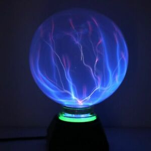 Magic Plasma Ball Touch Activated Static Light Sphere Glowing Globe Glass Nebula