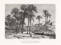 Antique Print-SEFI CANAL-BAHR YUSSEF-FAIYUM-EGYPT-AFRICA-Reclus-De Bar-1885