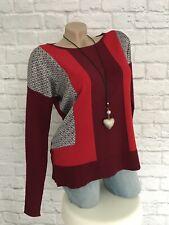 BC/ Heine Damen Shirt Feinstrick-Pullover Gr. 36/38 S rot neu