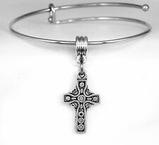 Cross Bangle bracelet Christian cross  best religious jewelry gift