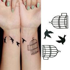 Art Tatoo bird  Removable waterproof Tattoo Stickers Temporary Tab Pip CA