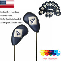 12Pcs Golf Iron Covers For Ping Taylormade Titleist Callaway Right & Left Handed