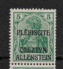 Germany Allenstein 1920 ,5pf ,Scott # 1,VF MNH**OG