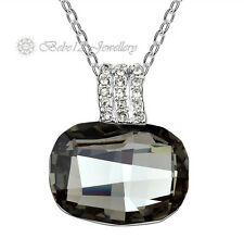 White Gold Plated/Crystal Pendant Necklace/RGN224S/N531