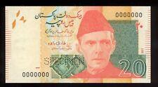 Pakistan 2017 20 Rupees Specimen UNC