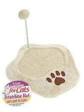 Classic Paw Shape Cat or kitten Claw Scratching Mat with Cat Play Ball 2000