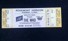 The Who Ticket 12/8/1982 Rosemont Horizon Chicago WHILE SUPPLIES LAST!