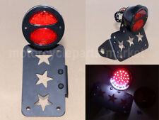 LED Side Mount Tail Brake Light License Stop Plate Bracket For Harley Bobber
