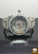 Brand New Men's White Gold Finish Diamond Watch Set, Bling , Valentines special