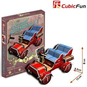CUBIC FUN 32pcs Antique Automobile Car 3 DIY 3D Puzzle Model Building Kit Toy