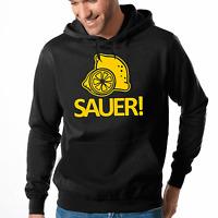 Sauer Zitrone Zitronen Sprüche Comedy Spaß Fun Kapuzenpullover Hoodie Sweater
