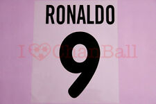 Ronaldo #9 2000-2001 Inter Milan Awaykit Nameset Printing
