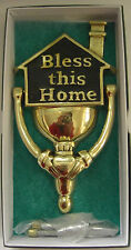 Irish Brass Hand Crafted BLESS THIS HOME BLACK KNOCKER WITH CLADDAGH