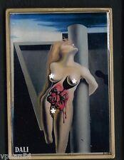 NUDE / ART / PAINTER / DALI / BLEEDING ROSES / BRONZE ENAMEL MEDAL  M.A.1