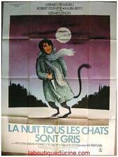 LA NUIT TOUS LES CHATS SONT GRIS Affiche Cinéma / Movie Poster DEPARDIEU