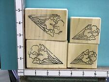 iris kaleidescope set of 4 rubber stamp 17y
