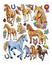 3D Wandsticker Wandtattoo viele Pferde Trophäen, Hufeisen für Kinderzimmer