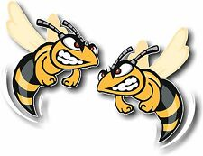 Vinyle Sticker/Autocollant Extra Small 50 mm Angry HORNET-Paire