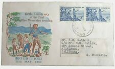 1963 Australia Stamp Fdc - 50 Years Blue Mountain Crossing -H/S Broadway 28/5/63