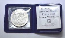 "2015 Medallion of Alaska""The Polar Bear Family""1 oz.999 Silver Round,Alaska Mint"