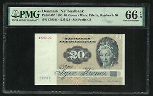 Denmark : 20 Kroner 1985 ; PMG : Gem UNC 66 ; EPQ