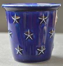 """Longaberger Pottery Candle Votive Proudly American Pattern 3"""" Tall Collectible"""