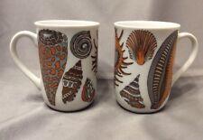 2 Seashell Mugs ~ Coffee Cups ~ Vintage