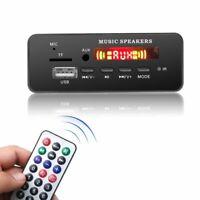 Bluetooth 5.0 MP3 Decoder Board Audio Module USB TF FM Radio For Car Recording