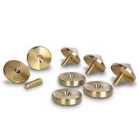 PrecisionGeek XLRG! 4x 40mm dia M8 Brass Speaker Spikes / Cones + 4x Pads