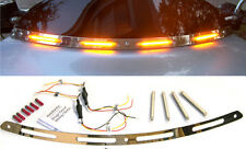 Harley Touring '96-'13 LED Turn Signal Windshield Trim Running Lights | CHROME