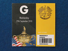 RYDER Cup 2010-CELTIC MANOR-MARSHAL ospite TICKET - 29/9/10
