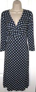 Womens🦋FENN WRIGHT MANSON 🦋grey mix stretch spots jersey midi dress size14