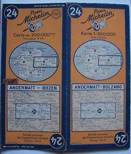 #) carte MICHELIN 24 ANDERMATT - BOZEN BOLZANO 1949