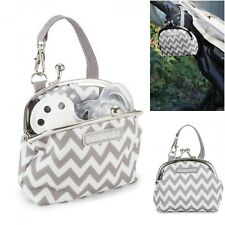 Dummy/Pacifier Holder PaciPurse Purse, Grey Chevron, Pouch, Keeper