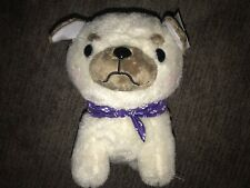 Amuse Collection 16� Bulldog With Purple Scarf New With Tags