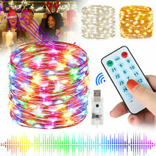 10M 100LED USB Copper Wire RGB Fairy String Light With Remote Control Xmas Party
