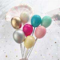 6Pcs Rainbow Foam Balloon Cake Toppers Bridal Shower Birthday Cake Decoration/