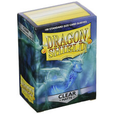 ARCANE TINMEN Dragon Shield Standard Size Card Sleeves Matte Clear - 100 Sleeves