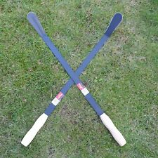 More details for 2 x weed slasher garden grass weeder scythe sickle lawn weeds 800mm length