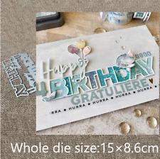 Happy Birthday Metal Cutting Dies Scrapbooking Album Card Making Embossing Craft