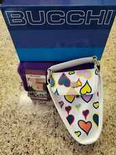 BUCCHI Bag Deluxe NIB ADORABLE Heart pattern Pet style Hold-All & Lead Leash