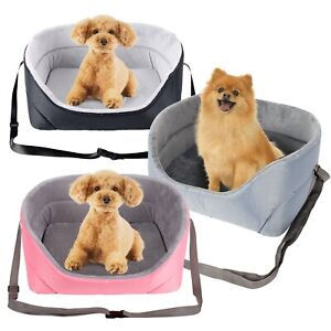 Travel Folding Dog Cat Pet Puppy Car Carrier Booster Seat Safety Bag Belt Covers