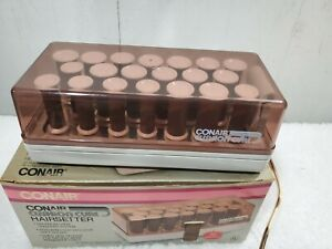 Conair CUSHION CURL Hairsetter 20 Soft Hot Rollers Curlers 3 Sizes Model HS-6