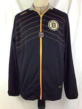 Boston Bruins Jacket Mens L Size Hockey Reebok Center Ice Play Dry Polyester NHL