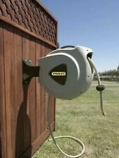 Stanley Accuscape 65' Garden Hose Reel Retractable Automatic Water Wall Mount