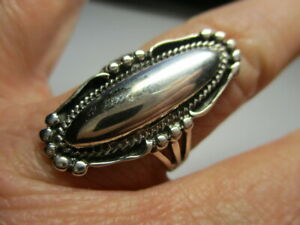 STERLING SILVER 925 NEW BRAIDED OVAL SILVER CABOCHON SOUTHWEST STYLE RING SIZE 9