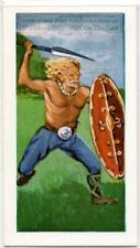 Gaul Celtic Western Europe Warrior Weapon Vintage Ad Trade Card